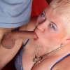 Chubby mama gives her young BF a deepthroating treatment